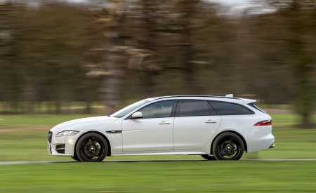 2019 Jaguar XF Sportbrake 20d AWD R-Sport Side Wallpapers 450x275 (7)