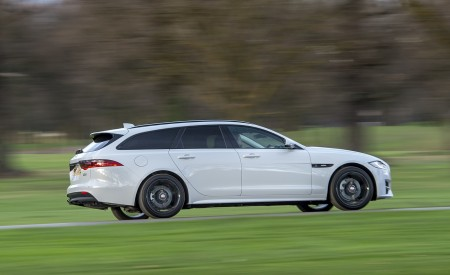 2019 Jaguar XF Sportbrake 20d AWD R-Sport Side Wallpapers 450x275 (8)