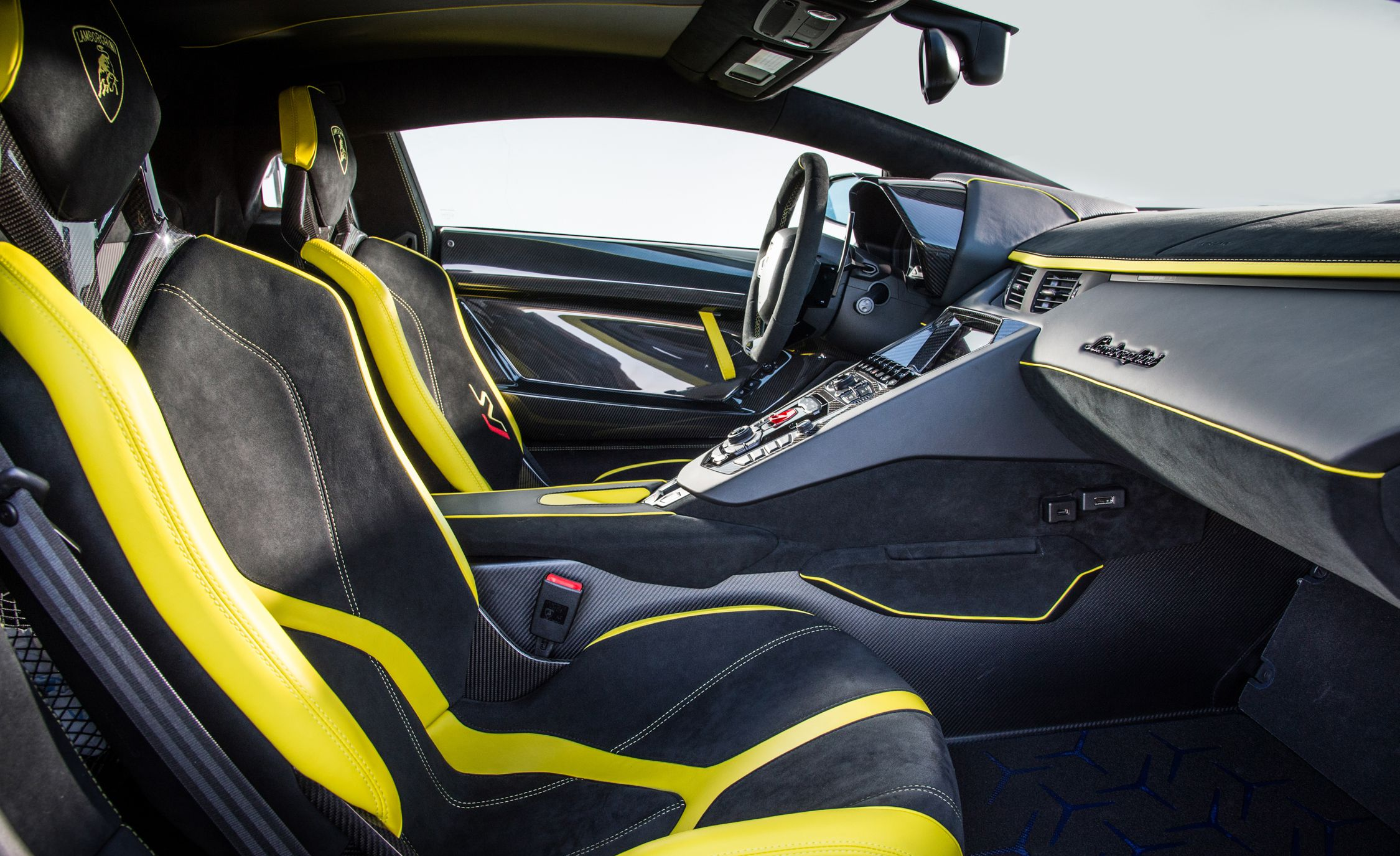 2019 Lamborghini Aventador Svj Interior Detail Wallpaper 108 Hd
