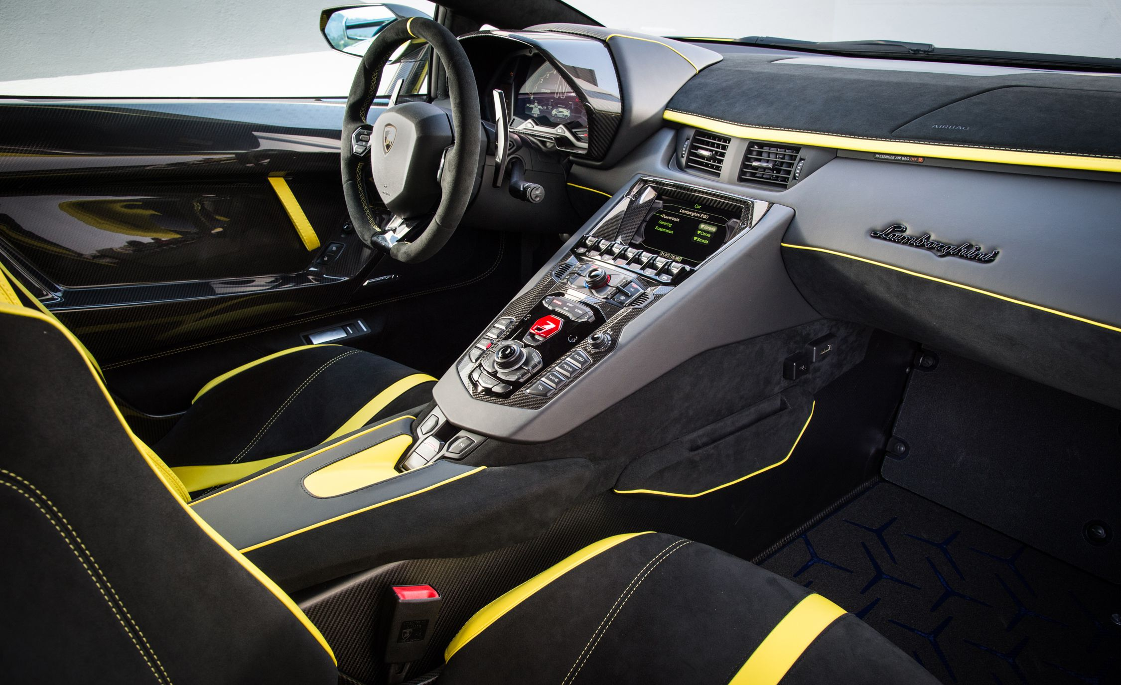 2019 Lamborghini Aventador SVJ Interior Front Seats Wallpapers #107 of 241