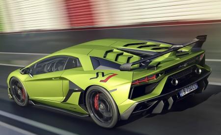 2019 Lamborghini Aventador SVJ Rear Three-Quarter Wallpaper 450x275 (160)