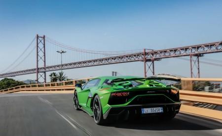 2019 Lamborghini Aventador SVJ Rear Three-Quarter Wallpaper 450x275 (49)
