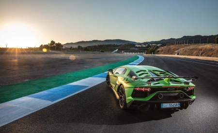 2019 Lamborghini Aventador SVJ Rear Wallpaper 450x275 (32)
