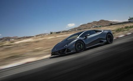2019 Lamborghini Huracán EVO (Color: Black) Front Three-Quarter Wallpapers 450x275 (7)