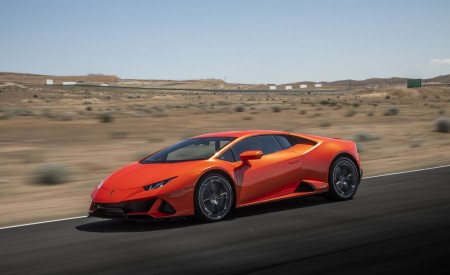 2019 Lamborghini Huracán EVO (Color: Orange) Front Three-Quarter Wallpapers 450x275 (5)