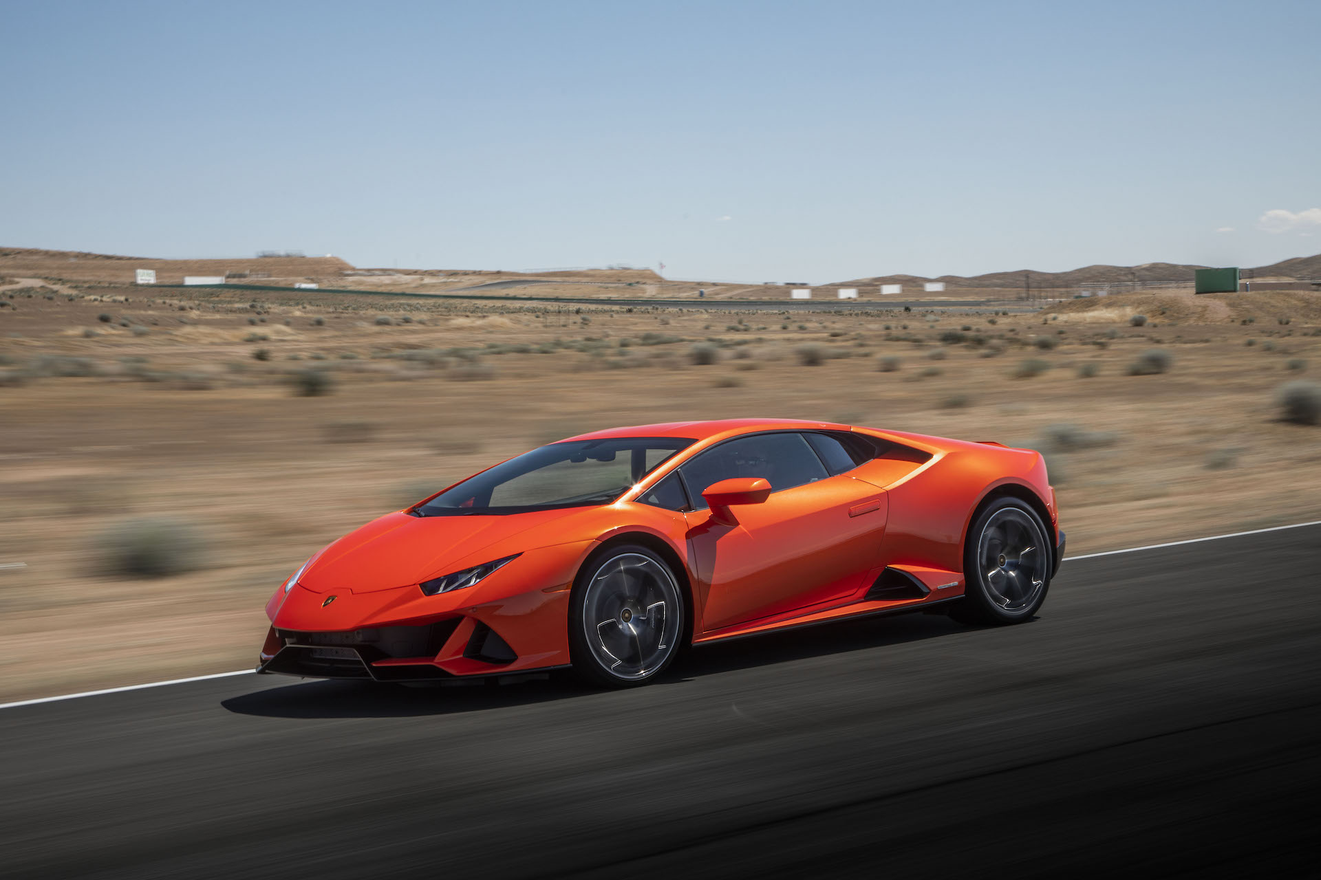 2019 Lamborghini Huracán EVO (Color: Orange) Front Three-Quarter Wallpapers (5)