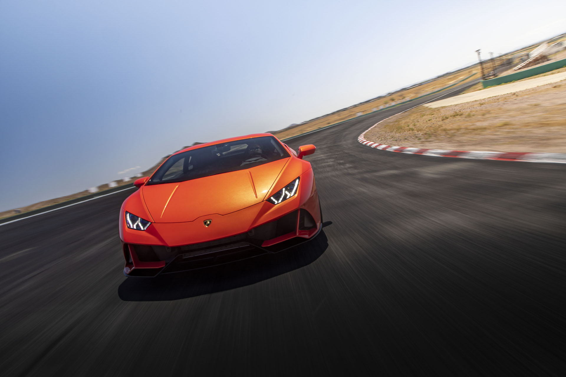 2019 Lamborghini Huracán EVO (Color: Orange) Front Wallpapers (4)