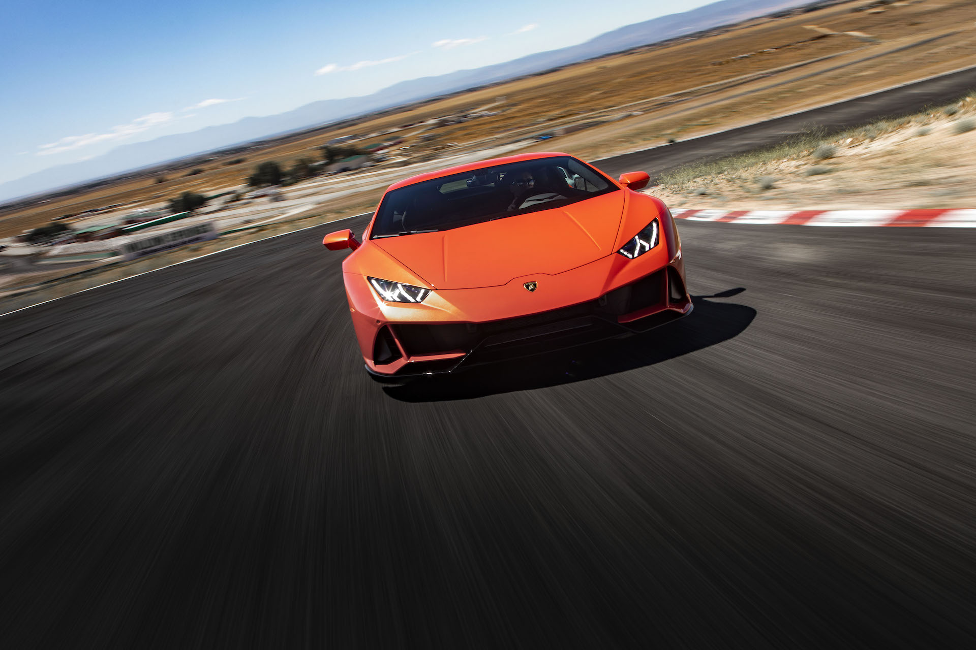 2019 Lamborghini Huracán EVO (Color: Orange) Front Wallpapers (3)