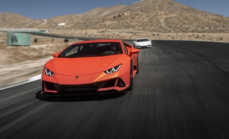 2019 Lamborghini Huracán EVO (Color: Orange) Front Wallpapers 450x275 (2)
