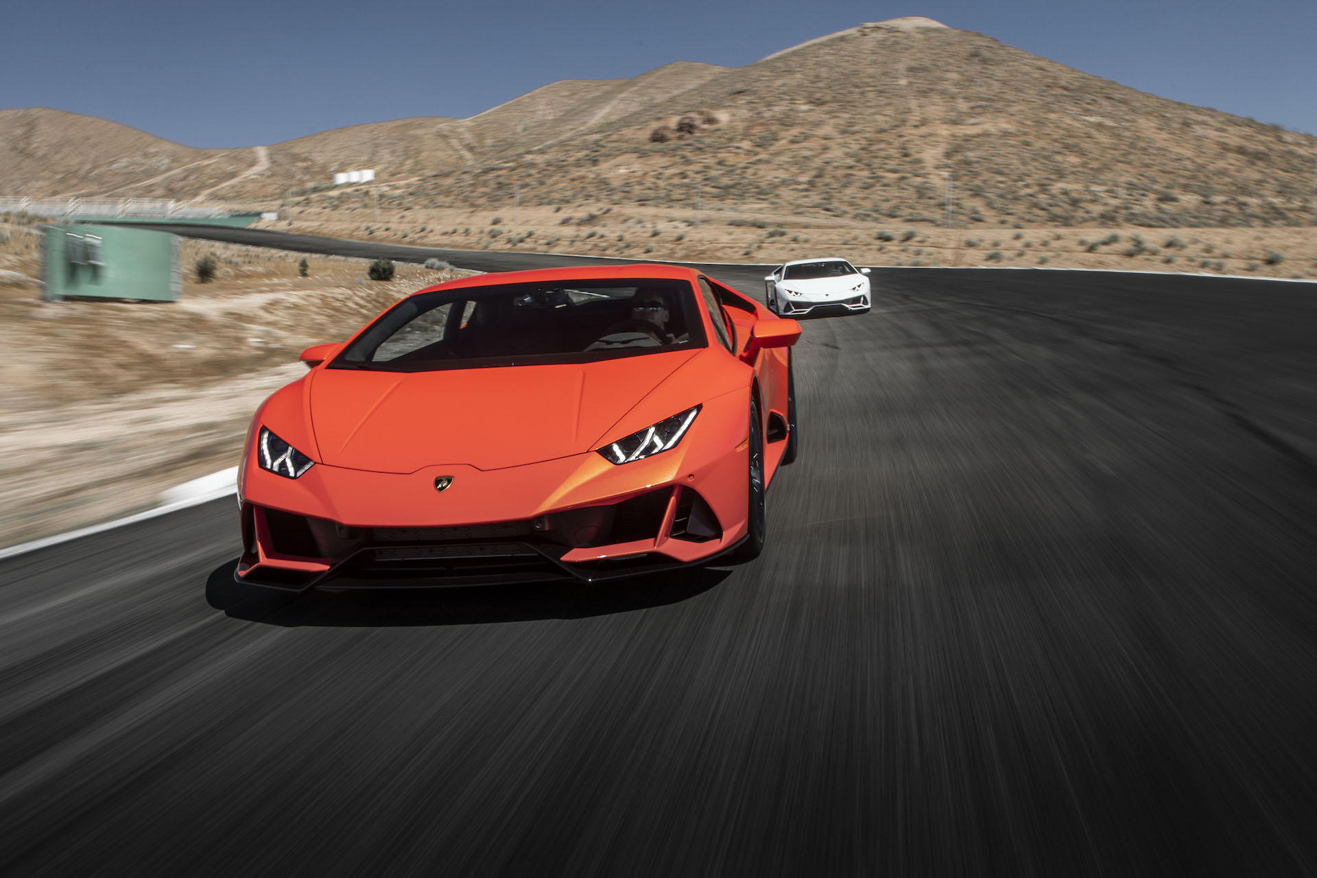 2019 Lamborghini Huracán EVO (Color: Orange) Front Wallpapers (2)