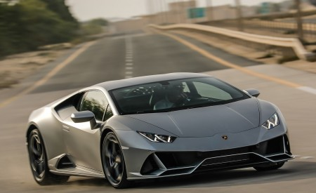 2019 Lamborghini Huracán EVO Front Three-Quarter Wallpapers 450x275 (48)