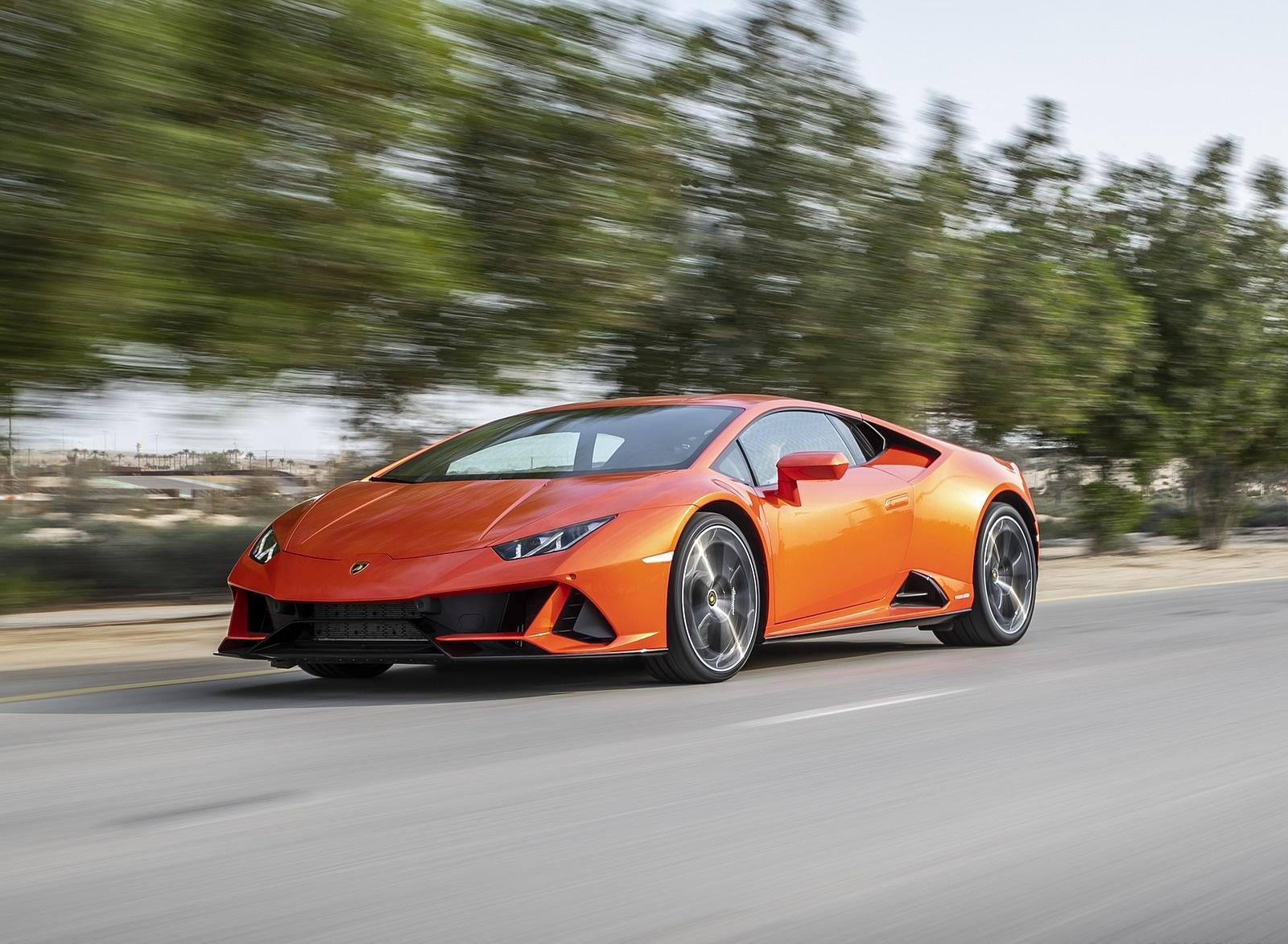 2019 Lamborghini Huracán EVO Front Three-Quarter Wallpapers (5)