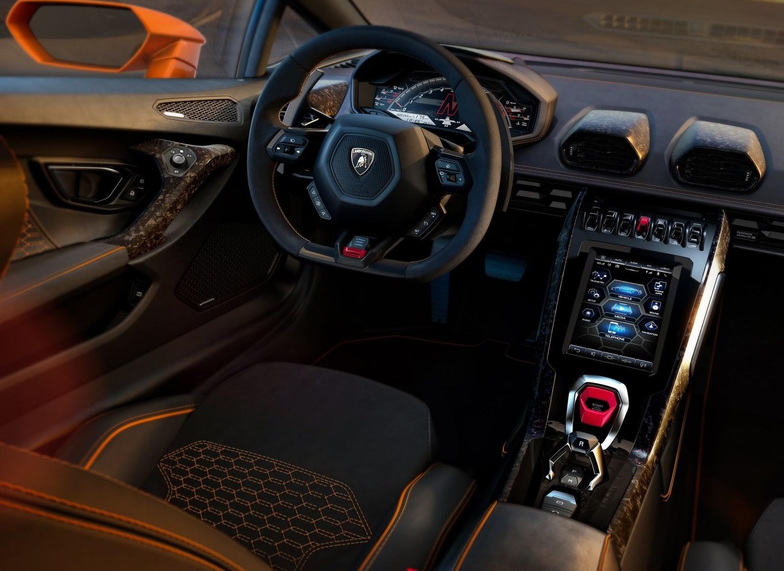 2019 Lamborghini Huracan Evo Interior Detail Wallpaper 77 Hd