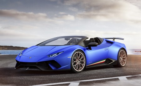 2019 Lamborghini Huracán Performante Spyder Front Three-Quarter Wallpapers 450x275 (58)