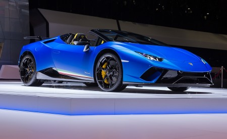 2019 Lamborghini Huracán Performante Spyder Front Three-Quarter Wallpapers 450x275 (83)