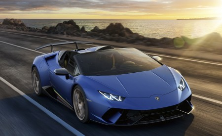 2019 Lamborghini Huracán Performante Spyder Front Three-Quarter Wallpapers 450x275 (60)