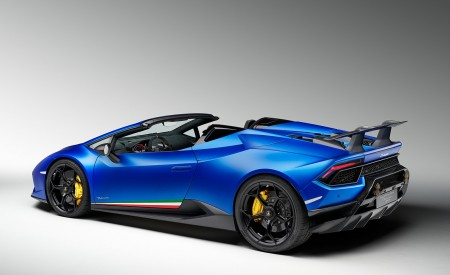 2019 Lamborghini Huracán Performante Spyder Rear Three-Quarter Wallpapers 450x275 (79)