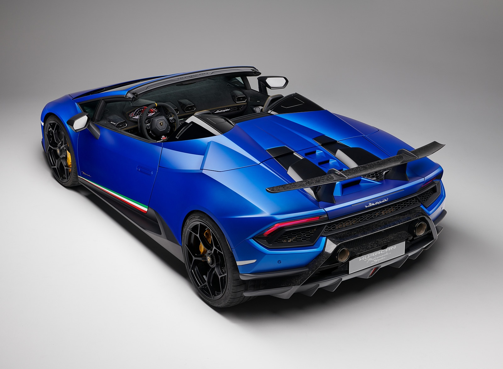 2019 Lamborghini Huracan Performante Spyder Rear Three Quarter
