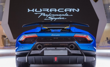 2019 Lamborghini Huracán Performante Spyder Rear Wallpapers 450x275 (89)