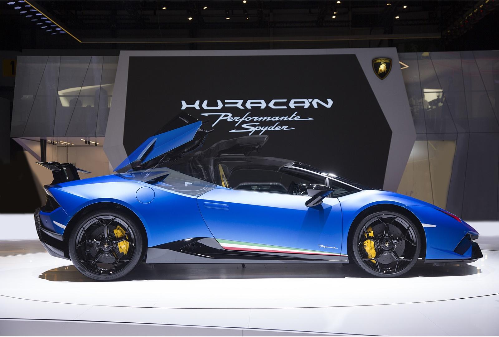 2019 Lamborghini Huracan Performante Spyder Side Wallpaper 85 Hd
