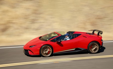 2019 Lamborghini Huracán Performante Spyder Side Wallpapers 450x275 (12)