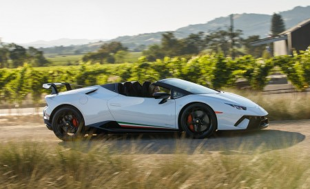 2019 Lamborghini Huracán Performante Spyder Side Wallpapers 450x275 (13)