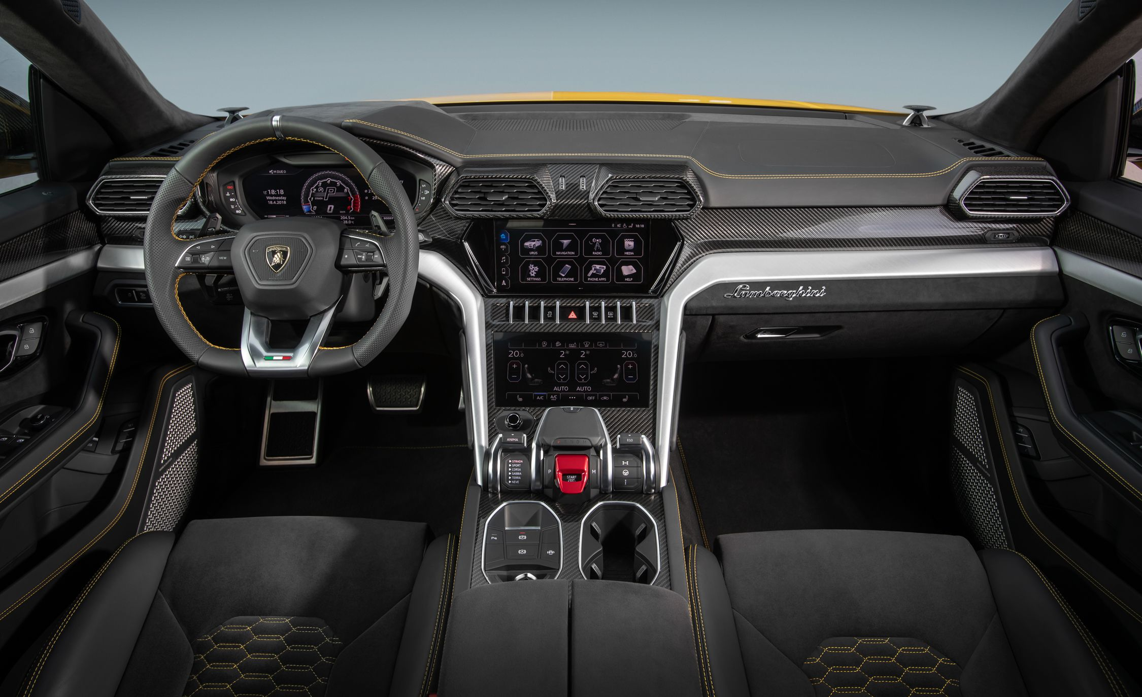 2019 Lamborghini Urus Interior Cockpit Wallpaper 28 Hd Wallpapers