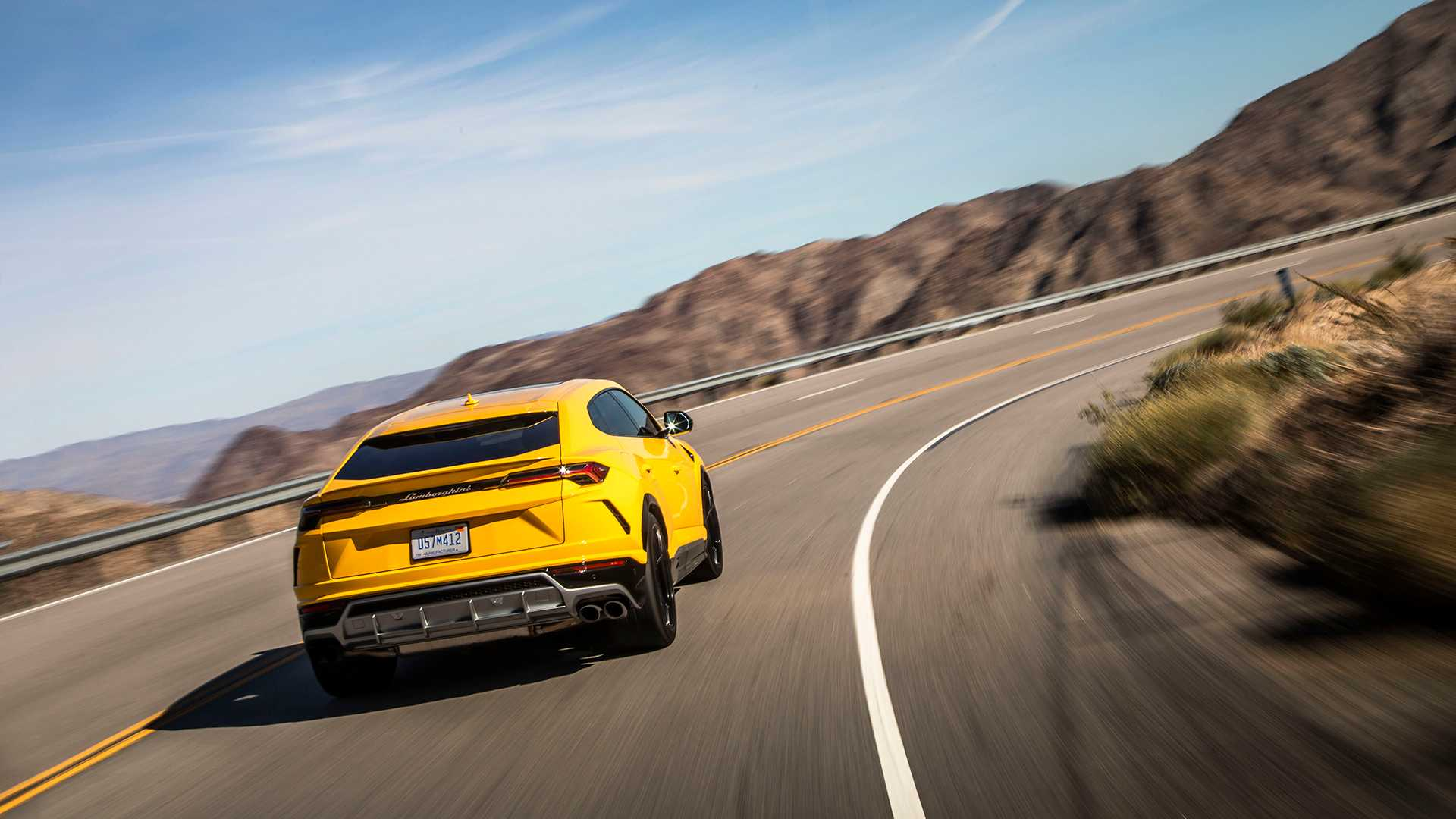 2019 Lamborghini Urus Rear Wallpaper (5)