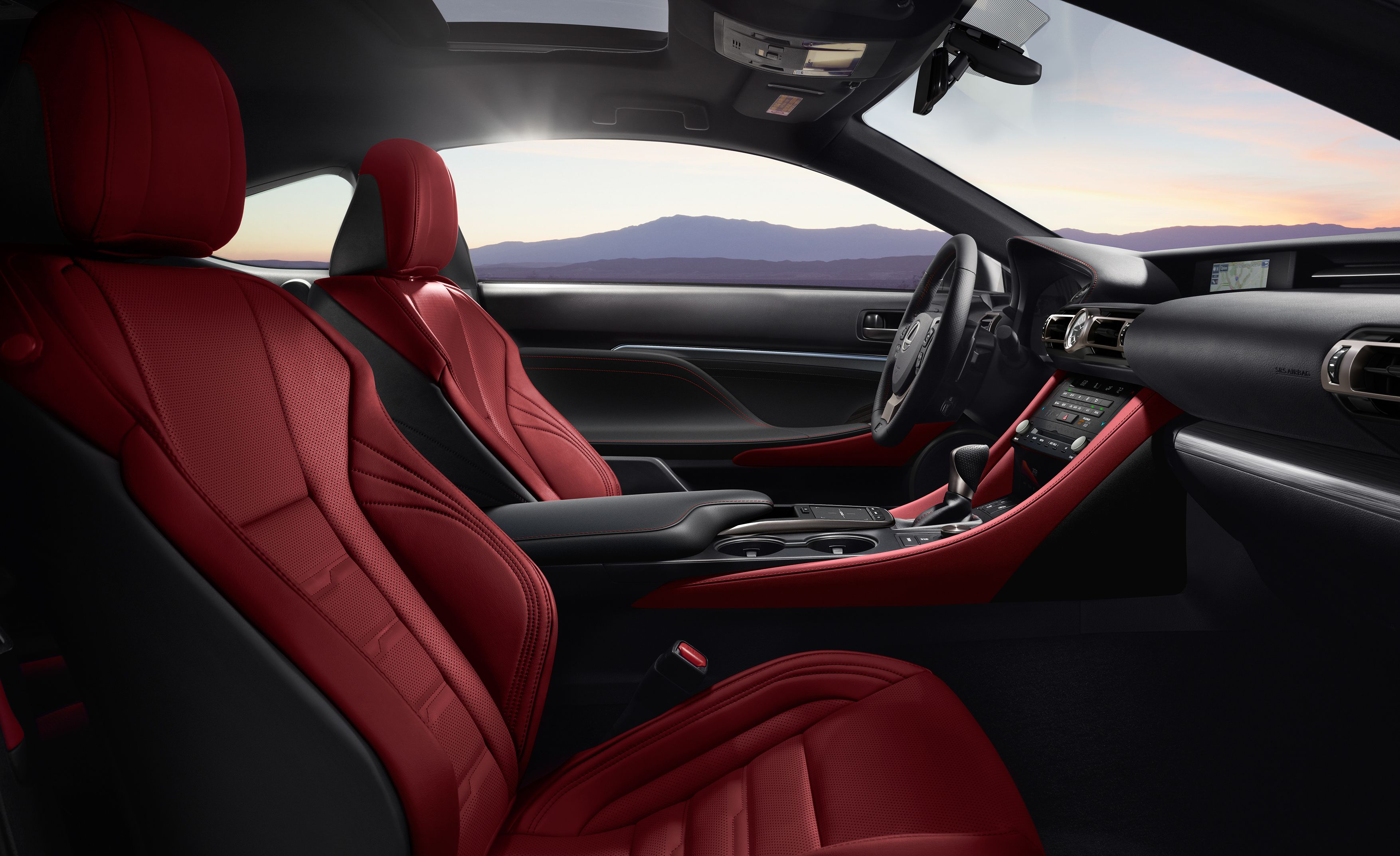 2019 Lexus RC Interior Front Seats Wallpapers (15)