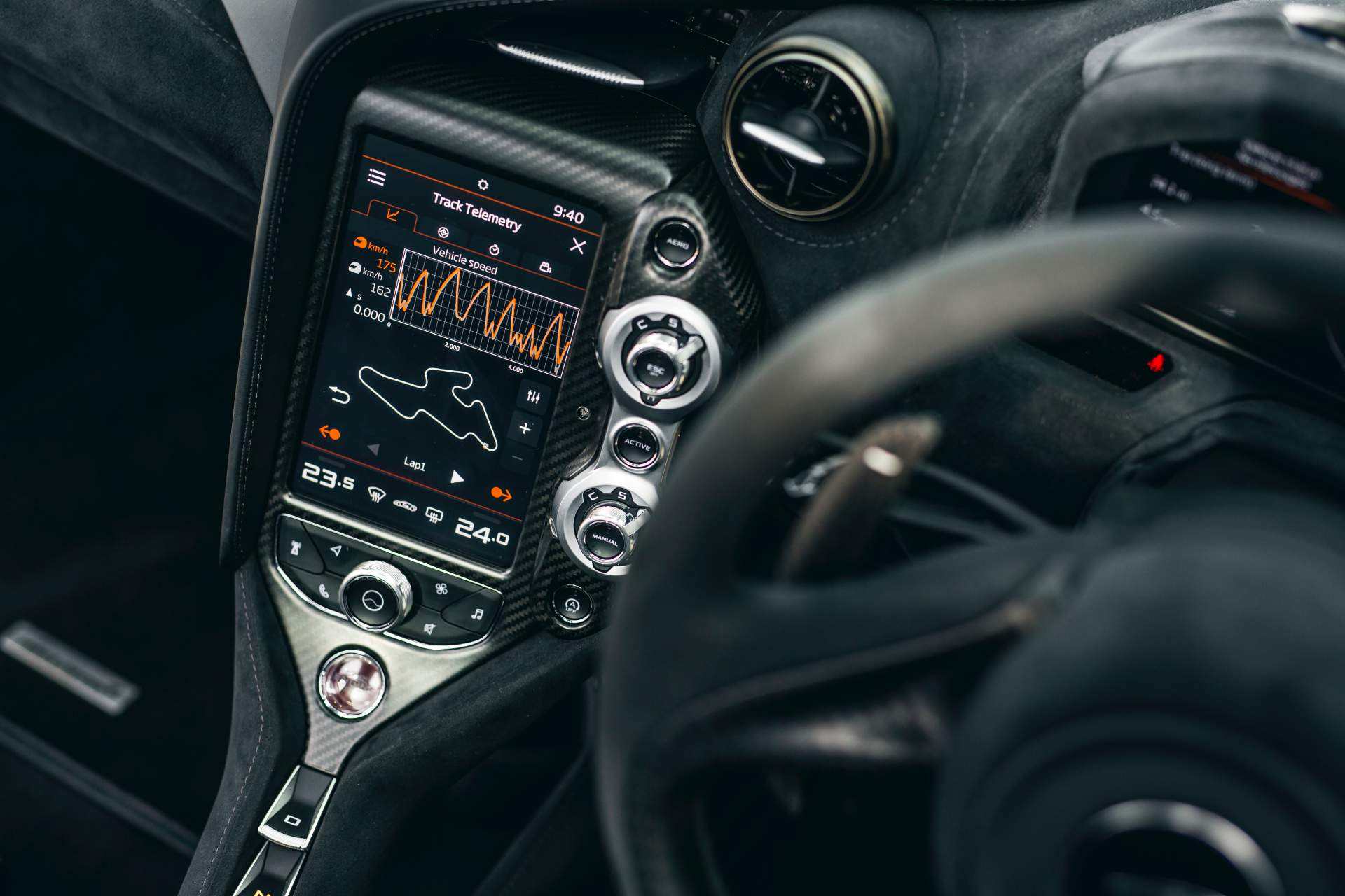 2019 McLaren 720S Track Pack Interior Detail Wallpaper (12)