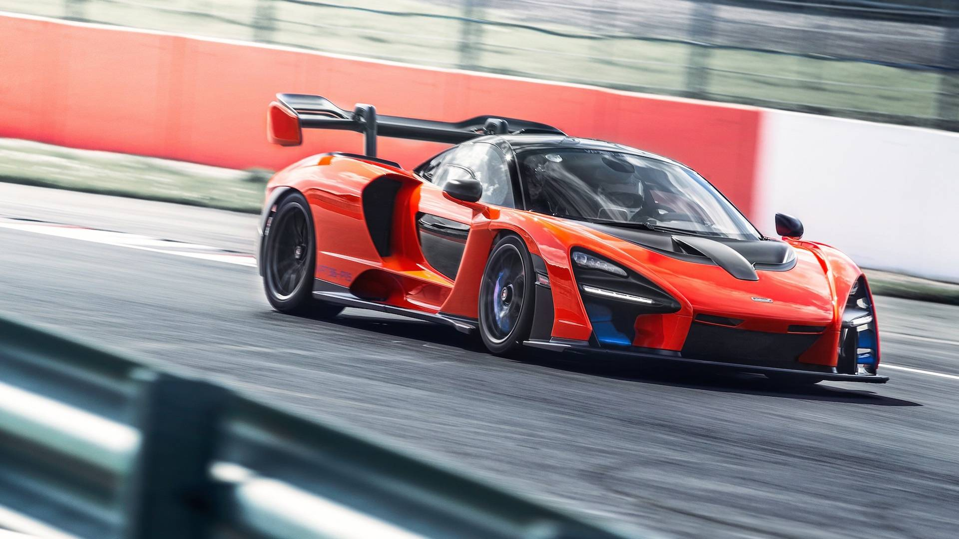 2019 McLaren Senna (Color: Delta Red) Front Wallpapers (10)