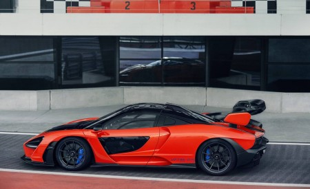2019 McLaren Senna (Color: Delta Red) Side Wallpapers 450x275 (36)