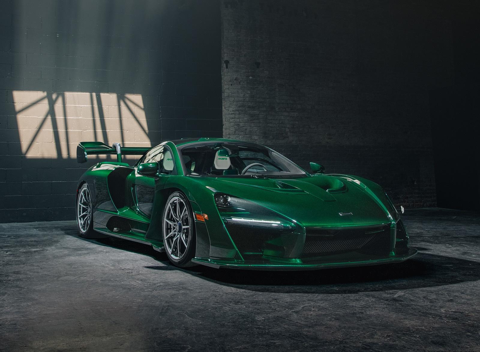 2019 Mclaren Senna Color Emerald Green Front Three
