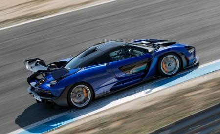 2019 McLaren Senna (Color: Kyanos Blue) Side Wallpapers 450x275 (61)