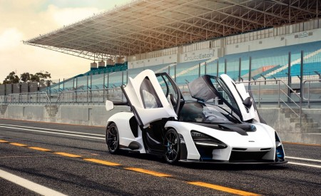 2019 McLaren Senna (Color: Pure White) Front Wallpapers 450x275 (53)