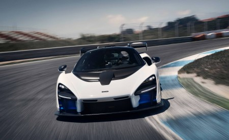 2019 McLaren Senna (Color: Pure White) Front Wallpapers 450x275 (50)
