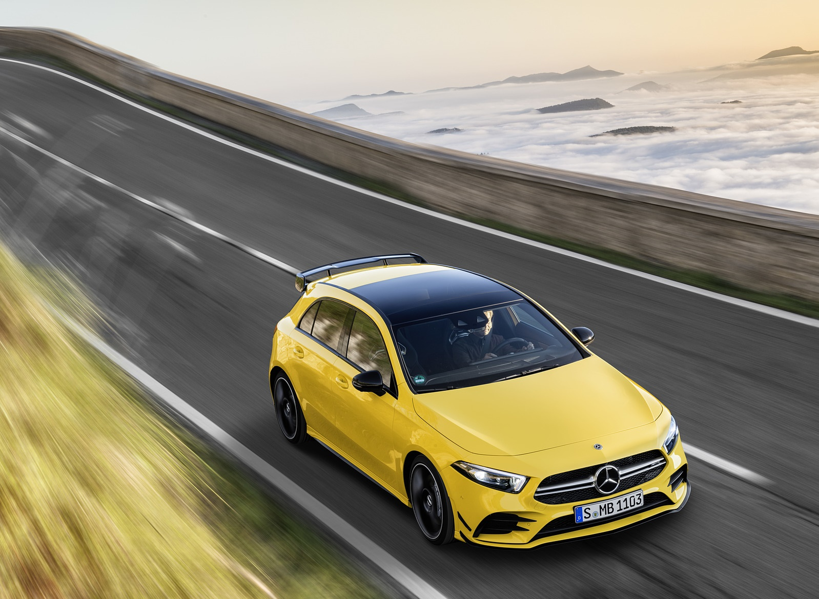 2019 Mercedes-AMG A35 4MATIC (Color: Sun Yellow) Front Three-Quarter Wallpapers (1)