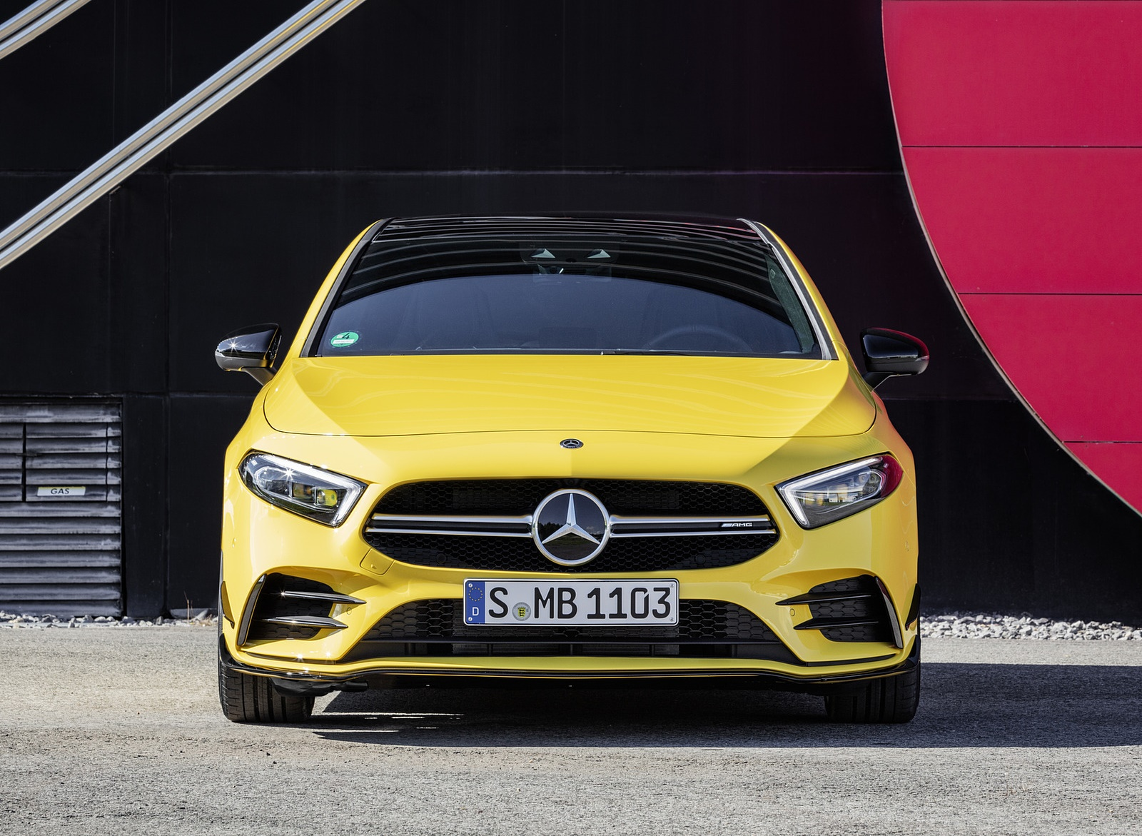 2019 Mercedes-AMG A35 4MATIC (Color: Sun Yellow) Front Wallpapers (15)