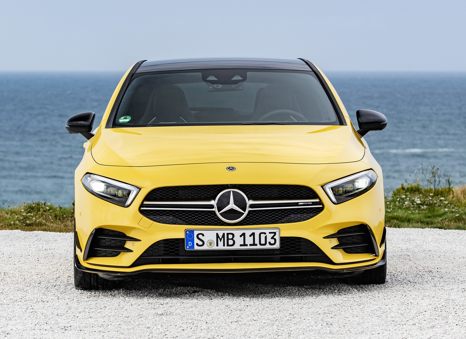 2019 Mercedes Amg A35 4matic Color Sun Yellow Front Wallpapers