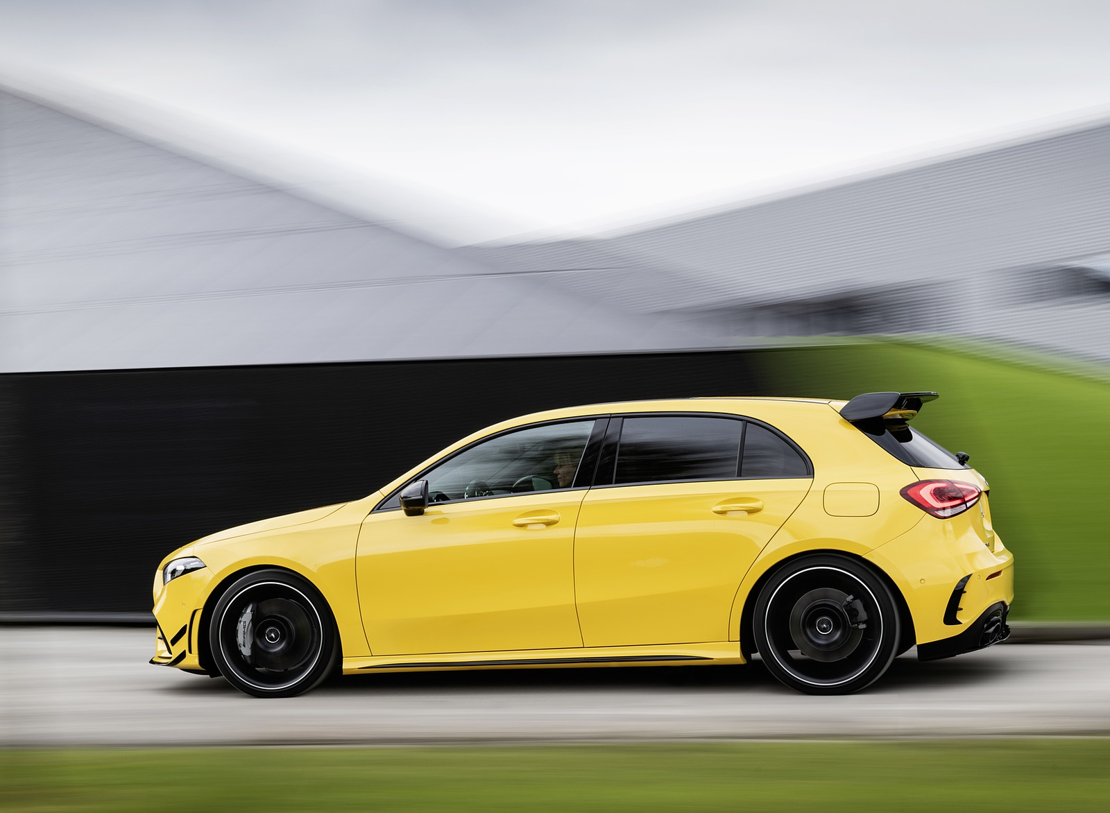 2019 Mercedes-AMG A35 4MATIC (Color: Sun Yellow) Side Wallpapers (5)