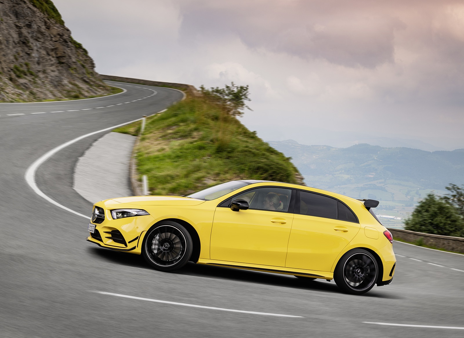 2019 Mercedes-AMG A35 4MATIC (Color: Sun Yellow) Side Wallpapers (8)