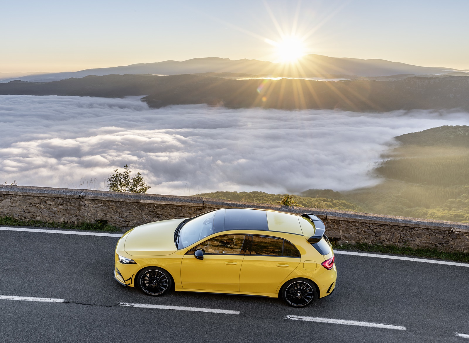 2019 Mercedes-AMG A35 4MATIC (Color: Sun Yellow) Top Wallpapers (6)