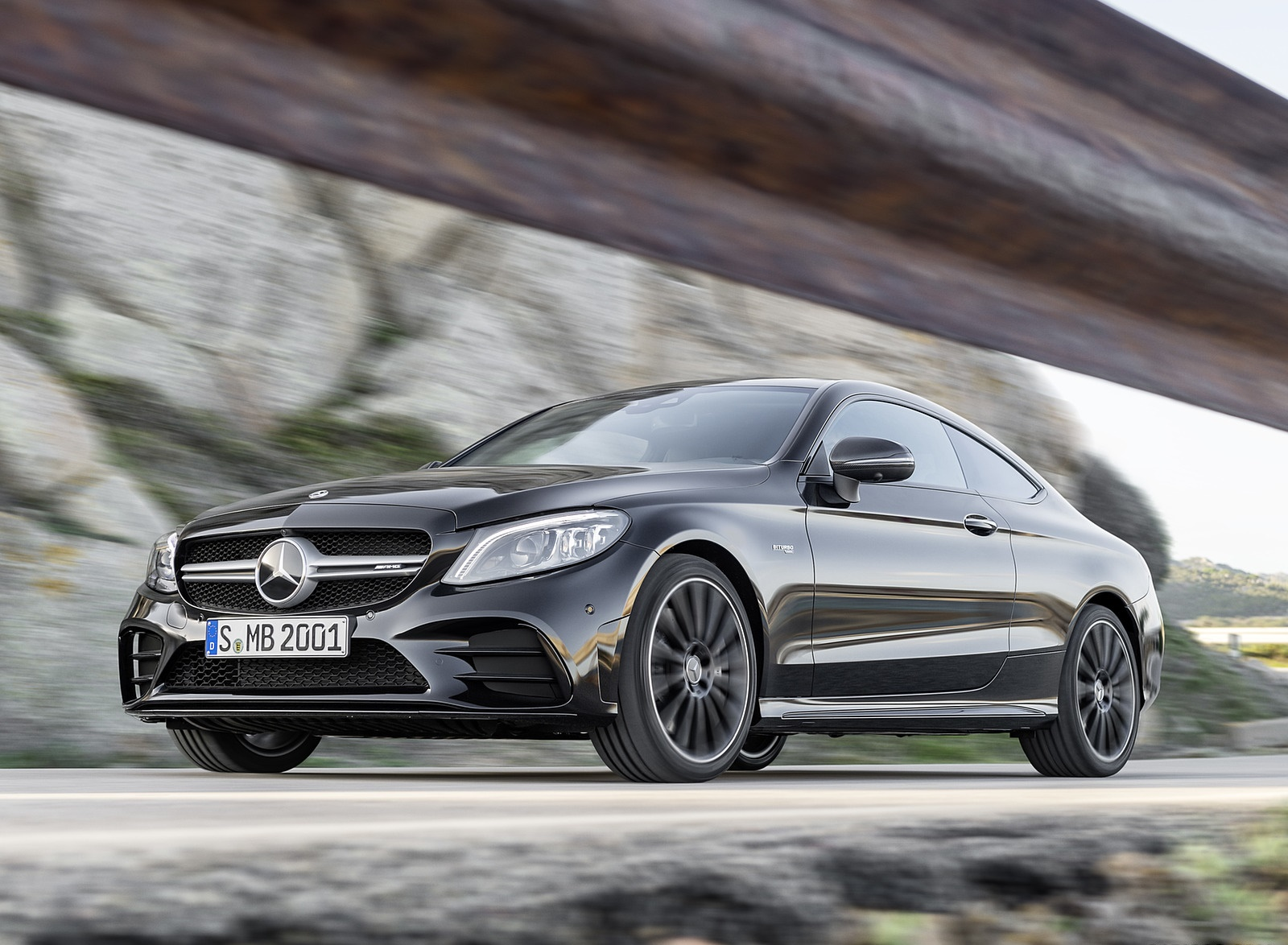 2019 Mercedes-AMG C43 Coupe 4MATIC Night Package Front Three-Quarter Wallpapers (8)