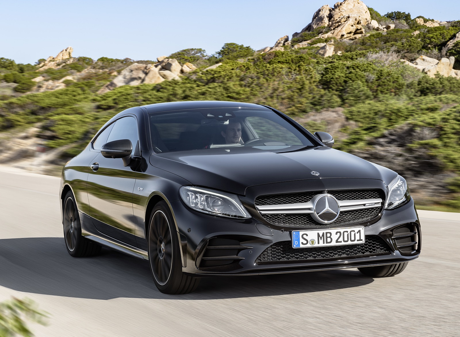 2019 Mercedes-AMG C43 Coupe 4MATIC Night Package Front Wallpapers (4)