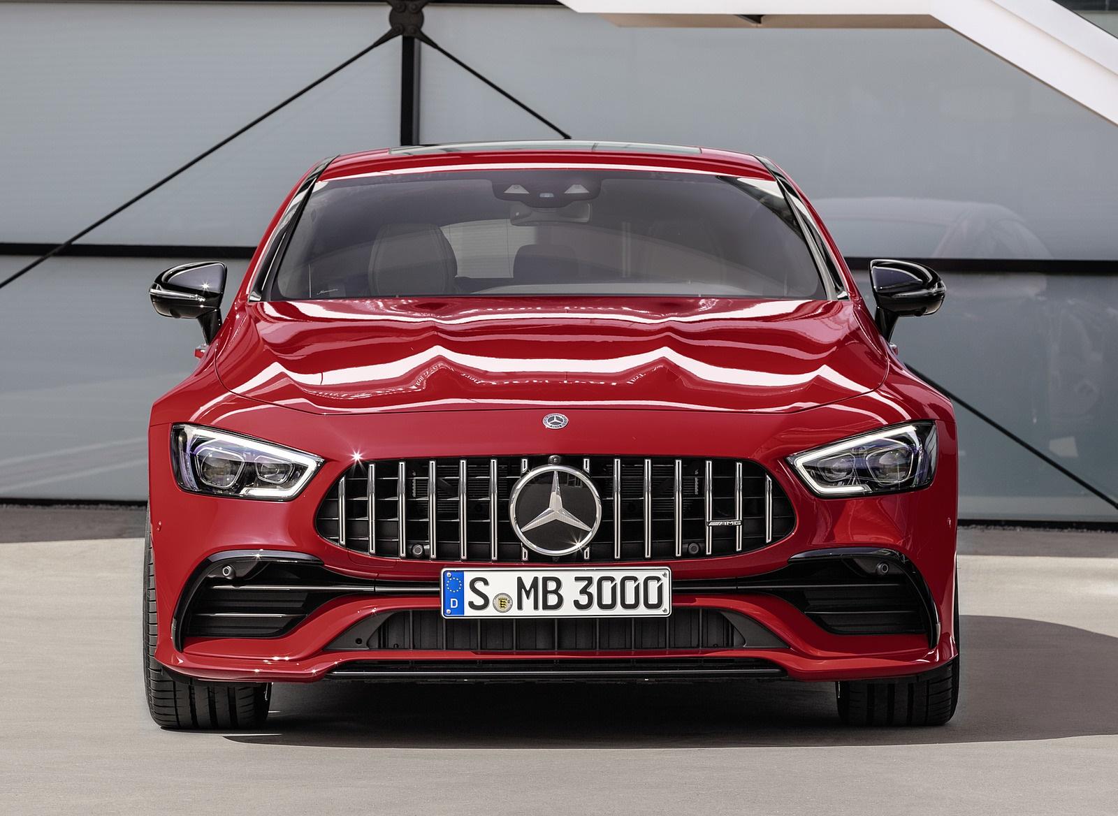 2019 Mercedes-AMG GT 43 4MATIC+ 4-Door Coupé (Color: Jupiter Red) Front Wallpapers (6)
