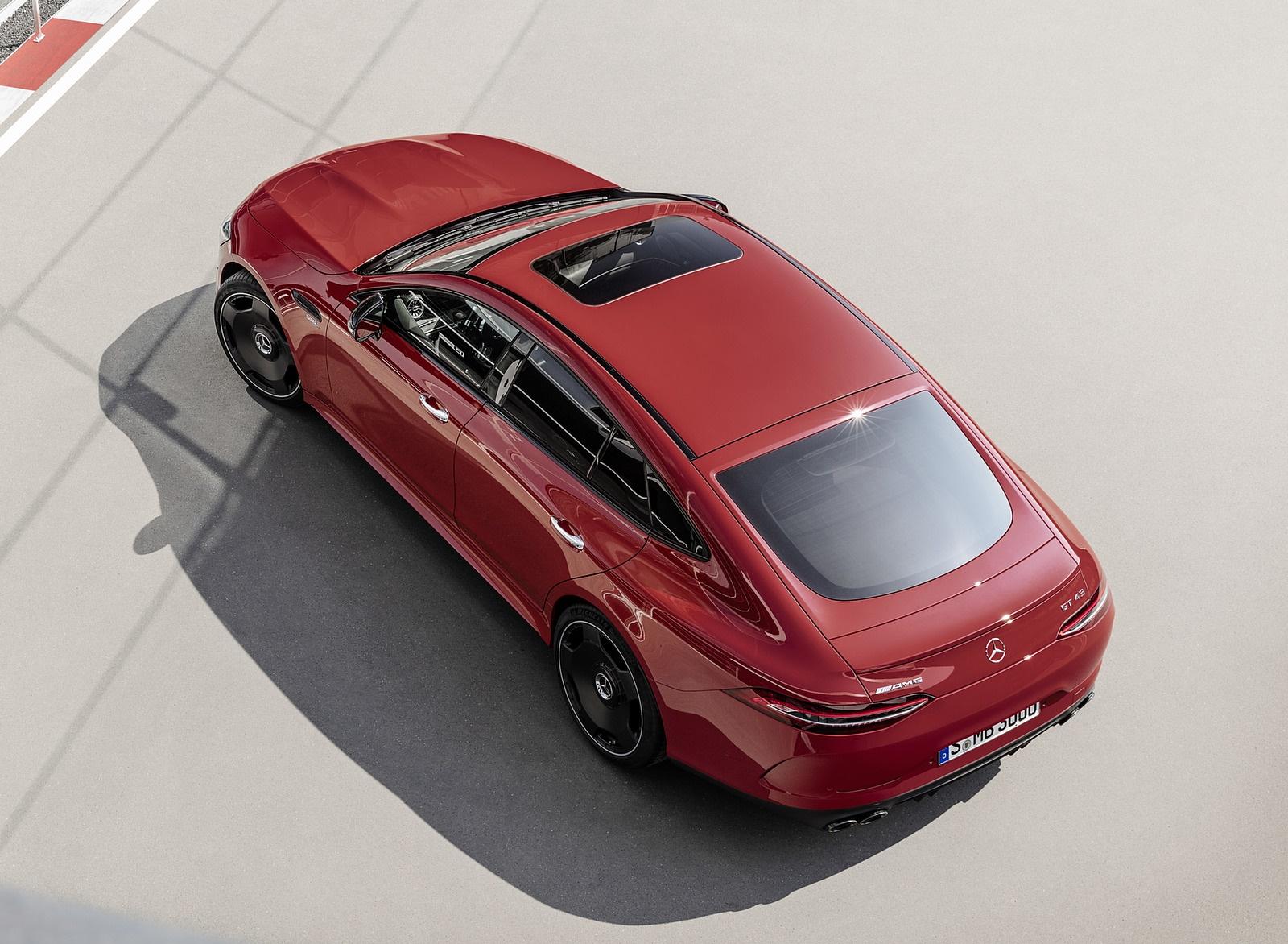 2019 Mercedes-AMG GT 43 4MATIC+ 4-Door Coupé (Color: Jupiter Red) Top Wallpapers (7)