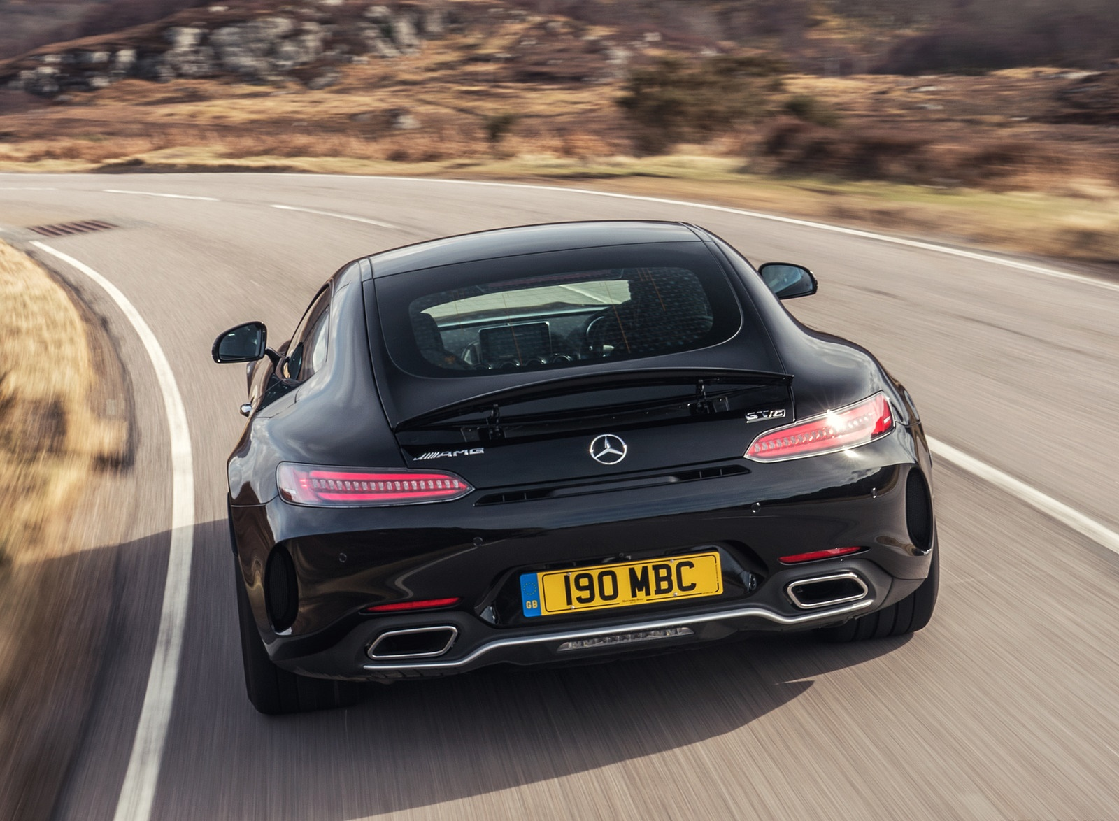 2019 Mercedes-AMG GT C Coupe Rear Wallpaper (12)