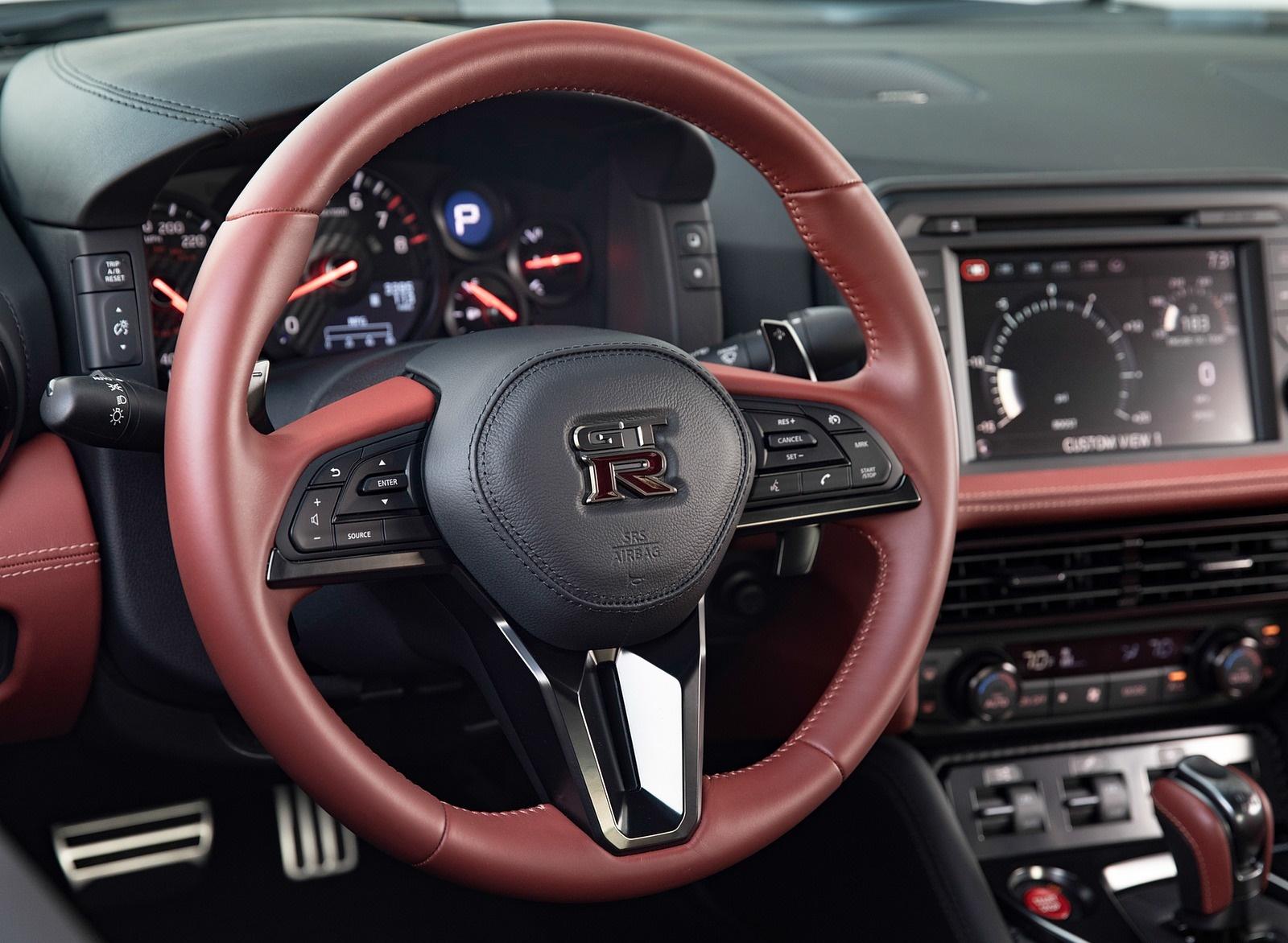 2019 Nissan GT-R Interior Steering Wheel Wallpaper (13)