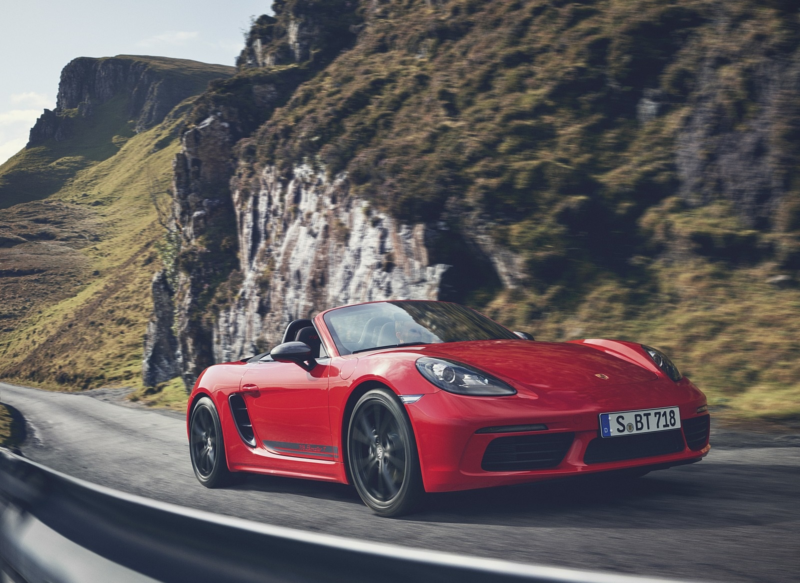 2019 Porsche 718 Boxster T Front Three Quarter Wallpapers 95 Newcarcars