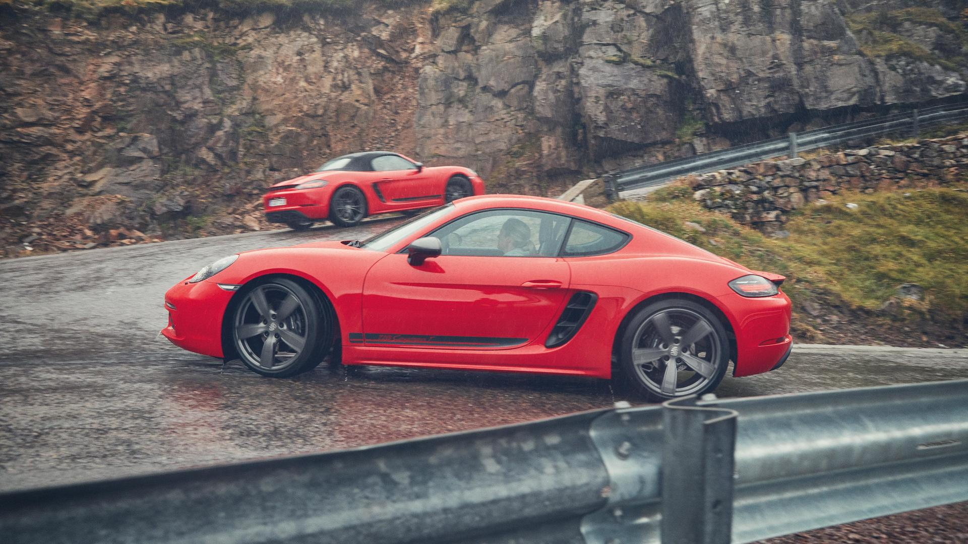 2019 Porsche 718 Boxster and Cayman T Side Wallpaper (10)